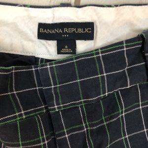 Banana Republic Shorts - Banana Republic Plaid Ryan Fit Chino Shorts